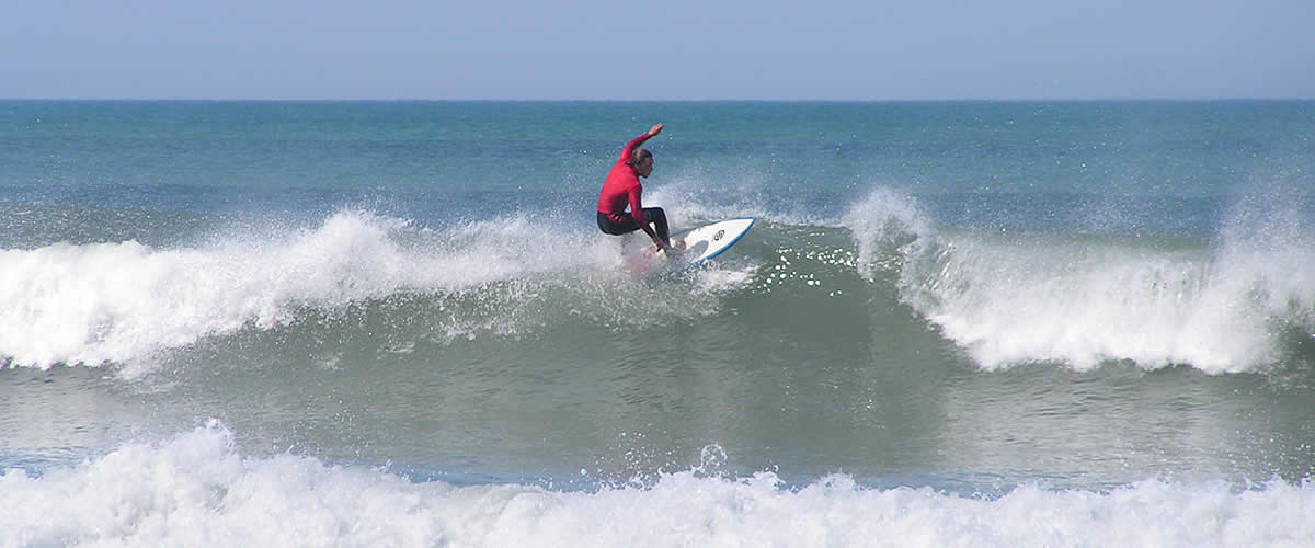 There are some great surfing beaches on the north coast
